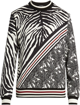 Dolce & Gabbana Zebra-print cotton sweatshirt