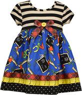 Bonnie Baby Baby Girls' Mixed-Print Dress