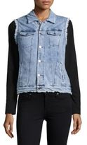 Marc New York Performance Chambray Button-Front Vest