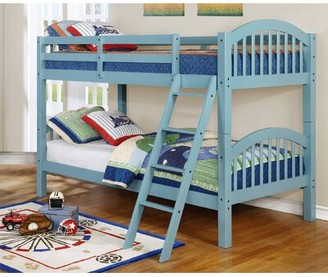 Viv + Rae Susie Twin over Twin Bunk Bed Bed Frame Color: Seafoam Blue
