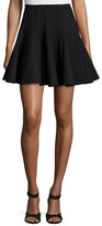 RED Valentino Pleated Fit-&-Flare Skirt, Black