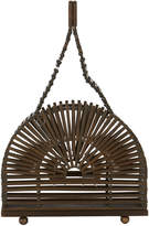 Cult Gaia Dome Bamboo Teak Bag