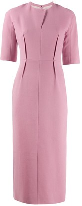 Emilia Wickstead Straight Fit Midi Dress
