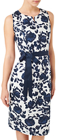 Precis Petite Clip Spot Dress, Navy/Multi
