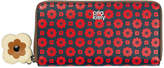 Orla Kiely Flower Foulard Big Zip Wallet - Navy/Red