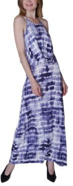 Ultra Flirt Juniors' Twist-Front Maxi Dress