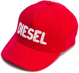 Diesel logo embroidered cap