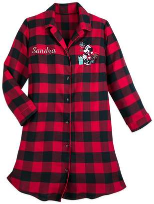 Disney Minnie Mouse Holiday Plaid Nightshirt for Women