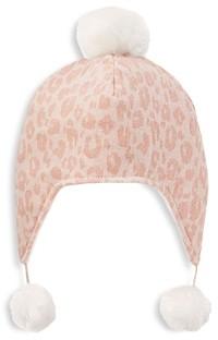 Elegant Baby Girls' Leopard Print Aviator Hat - Baby