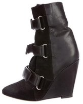 Isabel Marant Leather Wedge Booties