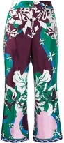 Emilio Pucci floral cropped trousers