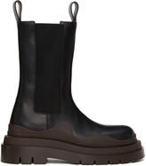 Thumbnail for your product : Bottega Veneta Black & Brown 'The Tire' Chelsea Boots
