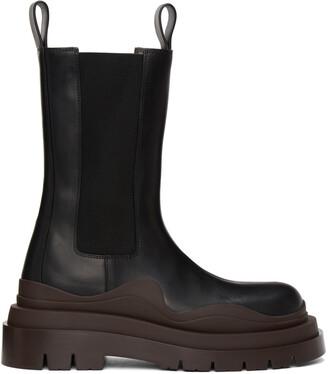 Bottega Veneta Black & Brown 'The Tire' Chelsea Boots