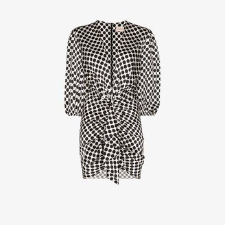 Alexandre Vauthier V-neck polka dot mini dress