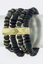 Karmas Canvas Rectangle Metal Accent Mix Bead Bracelet Set