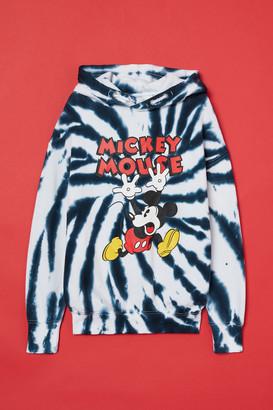 H&M Batik-patterned Hoodie - Blue