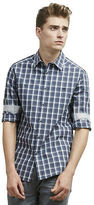 Kenneth Cole Two-Pocket Tonal Check Button-Down Shirt