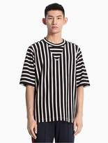 Calvin Klein Striped Raglan Cotton Knit T-Shirt