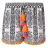 Rococo Sand Embroidered Silk Shorts