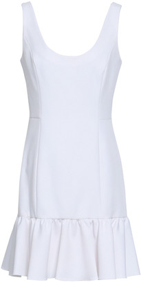 Milly Fluted Stretch-crepe Mini Dress