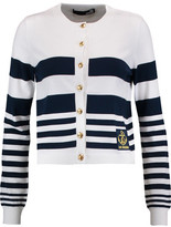 Love Moschino Striped Stretch-Knit Cardigan