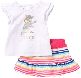 Juicy Couture Patterned Top & Skirt Set (Baby Girls 12-24M)