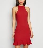 New Look AX Paris Frill Hem Bodycon Dress