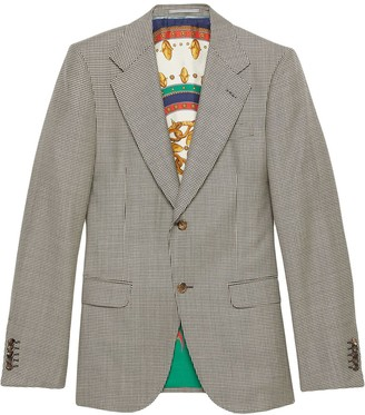 Gucci Houndstooth wool jacket