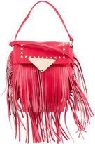 Sara Battaglia fringed studded crossbody bag - women - Calf Leather - One Size
