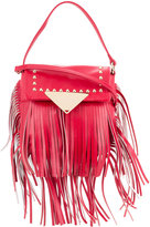 Sara Battaglia fringed studded crossbody bag