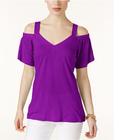 INC International Concepts Cold-Shoulder T-Shirt, Only at Macy's