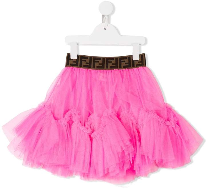 Fendi logo tutu skirt