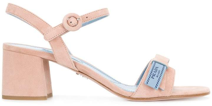 Prada block heeled sandals