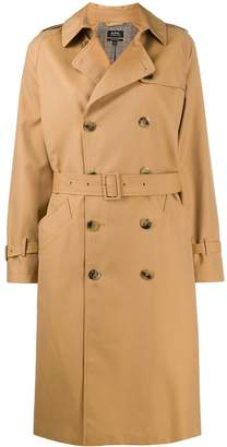 A.P.C. Greta double-breasted trench coat