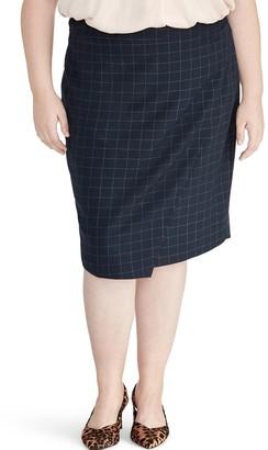 Rachel Roy Checkered Midi Skirt (Plus Size)