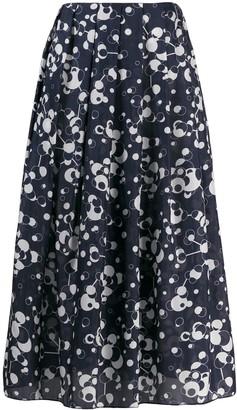 Katharine Hamnett Printed Pleated Midi Skirt