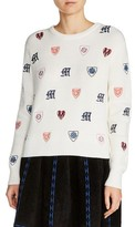 Maje Women's Martela Multicolor Embroidered Sweater