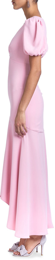 Thumbnail for your product : Sachin + Babi V-Neck Puff-Sleeve High-Low Maxi Dress