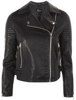 Topshop Pu leather biker jacket