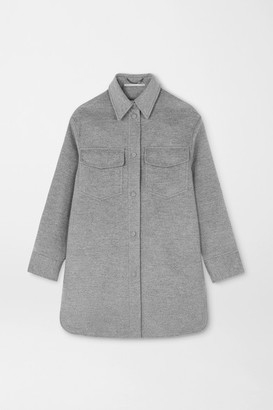 Stella McCartney Kerry Oversized Wool-felt Coat - Gray