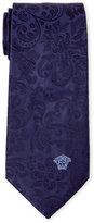 Versace Navy Baroque Silk Tie