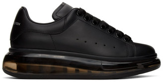 Alexander McQueen Black Clear Sole Oversized Sneakers