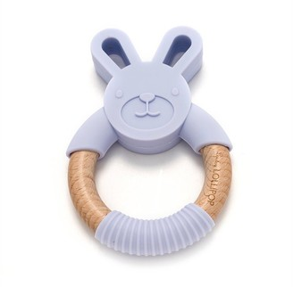 Loulou Lollipop Teething Ring Bunny - Lilac
