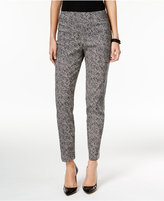 JM Collection Printed Pull-On Ankle Pants, Only at Macy's