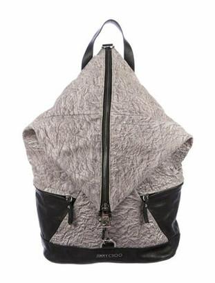 Jimmy Choo Fitzroy Leather Backpack grey