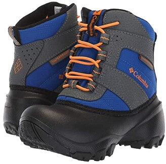 Columbia Kids Rope Towtm III Waterproof Boot (Toddler/Little Kid/Big Kid) (Azul/Orange Blast) Boys Shoes