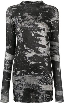 Strateas Carlucci scratch print jersey T-shirt