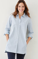 J. Jill Striped Cotton-Stretch Long Tunic