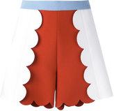 MSGM colour block scalloped shorts