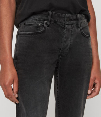 AllSaints Carter Straight Jeans,Washed Black